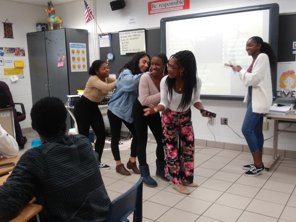 The council members of African-Caribbean Culture Club hosting a meeting.