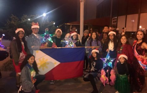 The Tallwood Filipino Culture Club at the Oceanfront Illumination Parade.