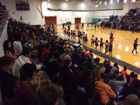 Students attend the October 26 Pep Rally.